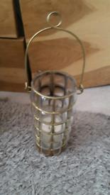 Old vintage brass/glass lantern