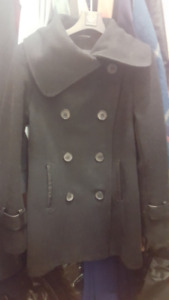 Mackage Wool Cashmere Blend Peacoat Black XS - Mint Condition