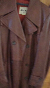 men's vintage leather coat   Newmarket