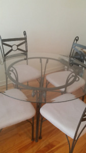 Glass + Iron Kitchen Table  ///  Table Cuisine Vitre + Fer Forge