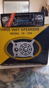 Car stereo system New in box. AM/FM cassette player.