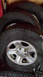 4 blizzak dmv1 245/75r16 for jeep wrangler