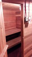 6 person cedar home sauna