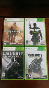 Call of duty games (Xbox360)