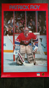Vintage Patrick Roy poster from Starline Inc. circa 1989