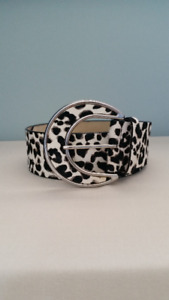 Snow Leopard Print Belt - By White House Black Market