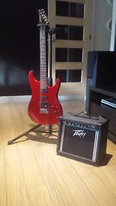 Guitare électrique Profile Professional et ampli Peavey Rage 108