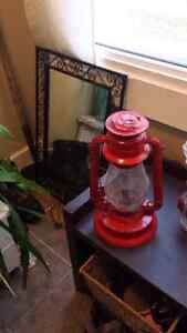 Old hanging oil lamp