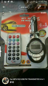 Car MP3/SD/USB/FM TRANSMETER 4 In 1