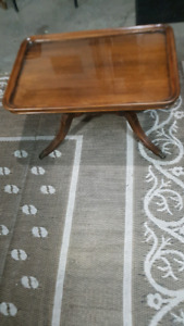 Beautiful antique table with removable top $150.00 or best offer