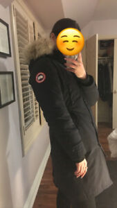 WOMEN CANADA GOOSE KENSINGTON PARKA - SMALL NAVY 10/10 WITH TAGS