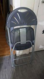 Dark Grey Folding Chair