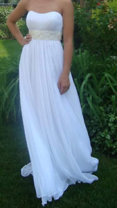 Long White Gown (La Femme) - perfect for prom or a beach wedding