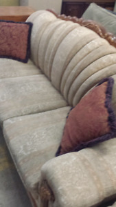 HUGE CHESTERFIELD LOVE SEAT AND CHAIR SALE