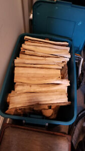 Excellent dry split firewood for sale with bin