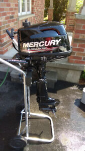 2017 Mercury 6 HP Outboard Motor - 7 hours total