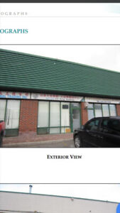 1120 sq ft manufacturing warehouse for rent in Scarborough.