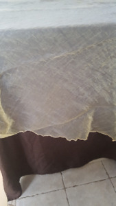 """organza overlay, surnappes 103"""" rond"""