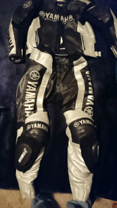 2 piece yamaha leather suit