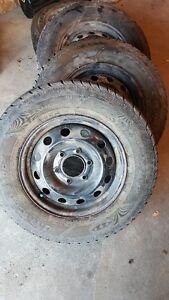 (4) Goodyear Ice tires on rims - off a Kia Sedona van 235/65 R1
