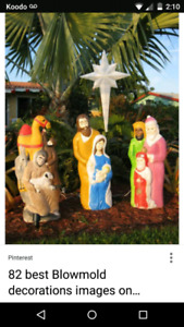 Wanted .. outdoor plastic vintage religious Christmas decoration