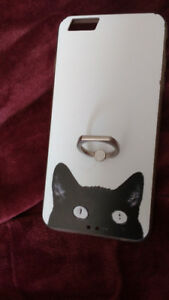 Used Iphone/ Galaxy Phone case with Black Cat