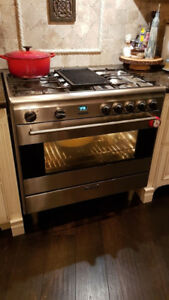 "36"" wide Smeg gas range stove for sale"