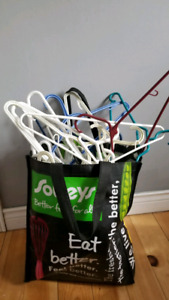 Free bag of clothes hangers