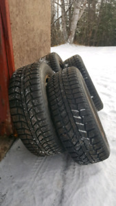 Tiger Paw Ice and Snow II tires with rims 205/60/16