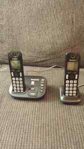 Panasonic cordless phone with two handsets