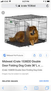 Dog crate size small and large
