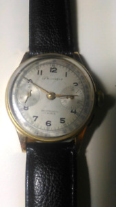 Authentic Swiss Bressinger 18K Gold Winding Unsex Watch