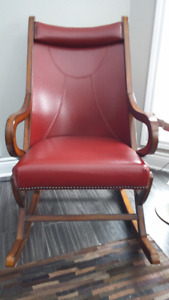 One of s kind red rocking chair - price reduced