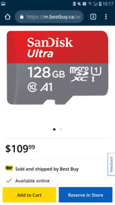 128 GB MICRO SD card never opened