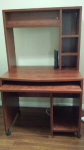 For sale:  Computer desk/ hutch, office chair and shelving unit