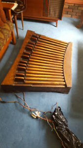Vintage MIDI Organ Pedalboard Convex Radiating Oak Maple