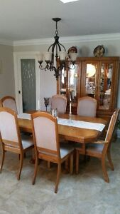 oak dining room set with hutch buy or sell dining table