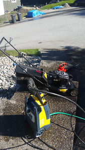 MOVING SALE!!~lawn mower/leaf blower/power pressure washer