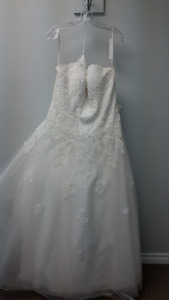 Wedding dress for sale - 16w - Beautiful Ivory/lace with beading