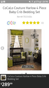 Cocalo Couture Crib bedding/nursery items in excellent condition