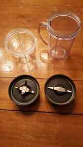 Used magic bullet cups and blades