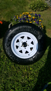 Spare Trailer Wheel & Tire