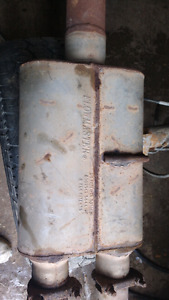 """Flowmaster muffler 3"""" in 2x 2.250 out $100"""
