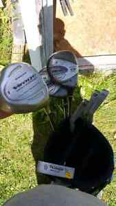 Right handed clubs and bag