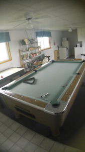 Pool table for $100. Well built,high quality.Very heavy,