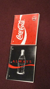 REDUCED - Lot of 2 120 page spiral Coca-Cola notebooks - NEW