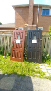 Selling two real Wooden doors.