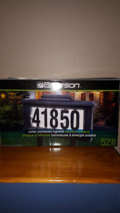 Solar - Powered Lighted Address Plaque