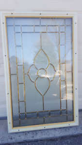 Beautiful Window insert for exterior door