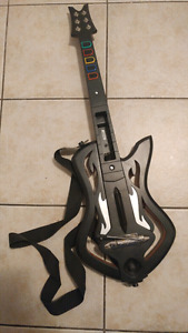 Special edition guitar hero guitar for Wii